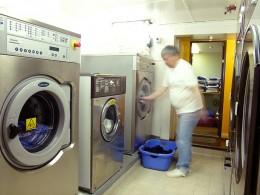 Doing laundry, washing machines