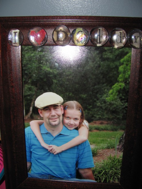 Homemade Picture Frame Picture inside taken by Patty K Photography in Fayetteville, NC