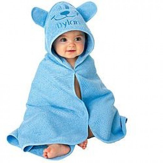 A ridiculously cute hooded towel from Lillian Vernon
