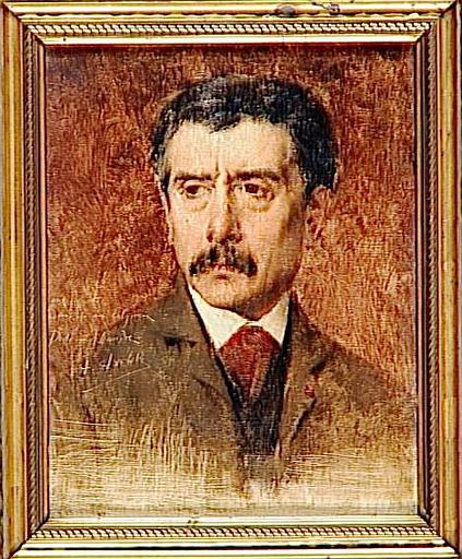 Alexandre Falguière (1831-1900) Portrait, by Alexis Axilette (1860-1931)