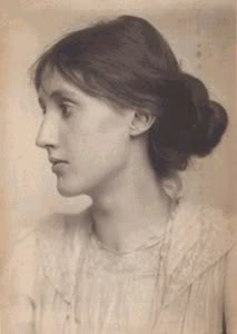 A portrait of Virginia Woolf.