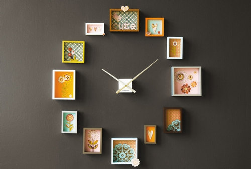 A clever clock made of inexpensive picture frames