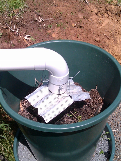 Home made spreader to distribute water over the surface.