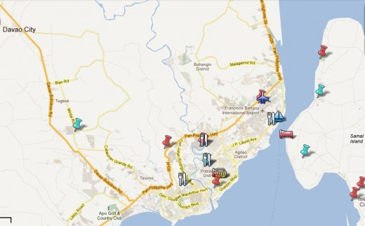 Davao Tour Google map by munchwaffle