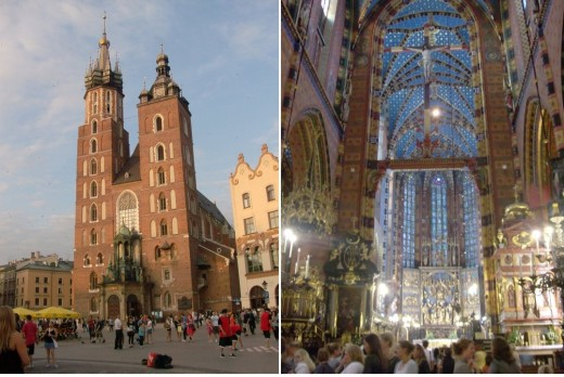 St. Mary's Church in Krakow, Poland.