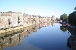 The River Ouse is located in North Yorkshire, England.
