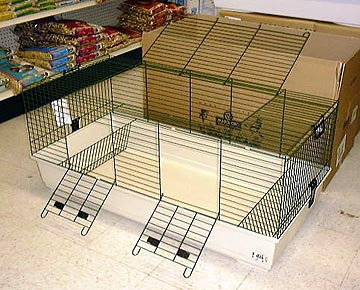 A slightly smaller cage could work for one Guinea pig, make sure there is a top door and a side door in case you need to get your pig out in emergency or even just to play.