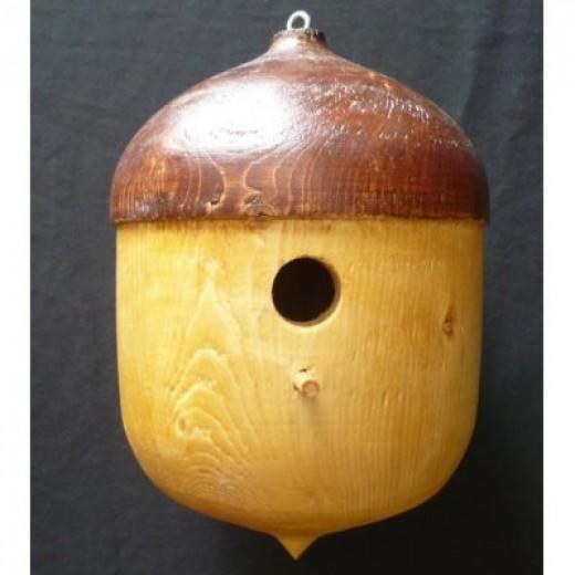 Amish Handmade Solid Pine Acorn Bird House