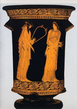 Sappho and Alcaeus on ancient Athenian pottery