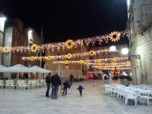 Christmas lights in Split, Croatia