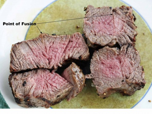 """Restructured"" steak cuts"