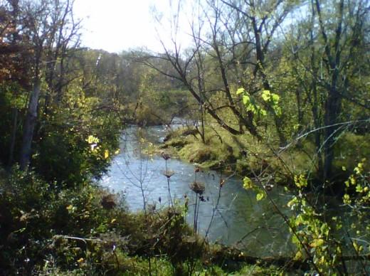 Taken by author, October 15, 2011.  Stebbinsville Dam, Wisconsin.