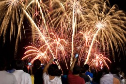 It is now typical to see fireworks display during the New Year's Day sponsored by the local government all over the country