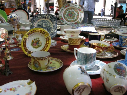 Antique stalls carry an eclectic mix of treasures and trinkets