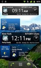 World Weather Clock Widgets