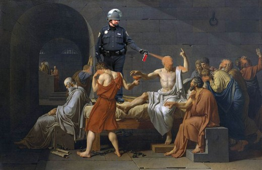 Pepper Spray Cop meets the Death of Socrates