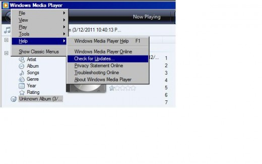 If Windows Media Player is giving you problems, see if an update is available.