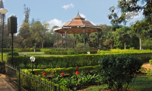 A view of the bandstand at Cubbon Park, Bangalore, where the British Royal Air Force used to play music every Saturday evening before India's Independence.