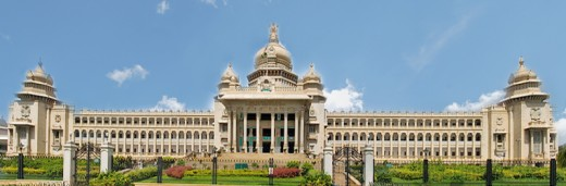 Vidhana Soudha - the seat of Legislative assembly of Karnataka, is a popular tourist attraction.