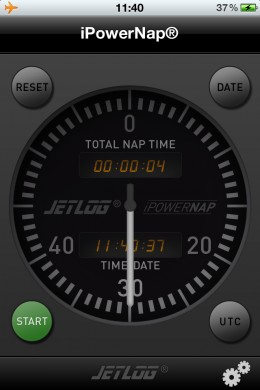A truly original app, it uses touchscreen and accelerometer to detect when your muscles relax. The app includes 20-40 minute nap durations, recommended for astronauts, pilots and special forces.  Free!