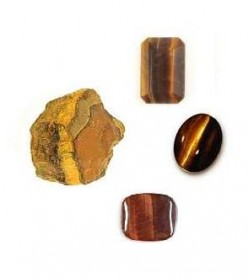 Tigers Eye Quartz Crystal Stone and Gemstones : Tigers Eye Quartz is the gemstone associated with the solar plexus chakra and wedding anniversary gemstone for the 9th year of marriage.