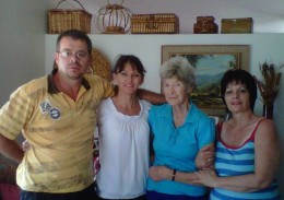Brother Lucas, his wife, mammy and Martie