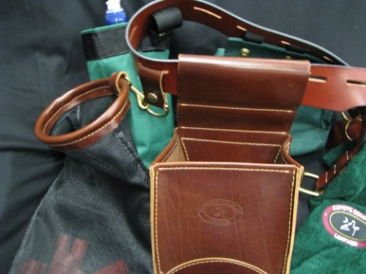 Close up of the skeet shooter gear belt