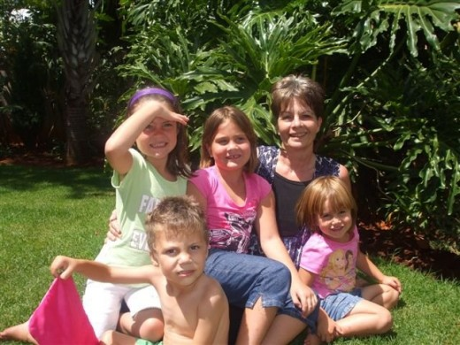 Martie and her four angels!!