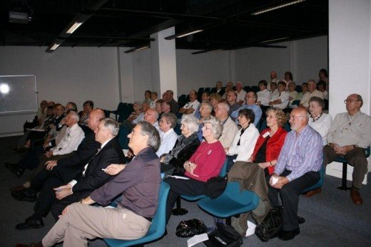 Some of my audience when I received an award for writing a short story back in 2008.