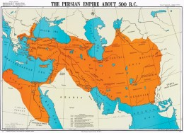 The Persian Empire in 500 BCE.