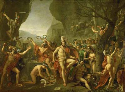 Jacques Louis David's thermopylae