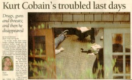 One of the few genuine Kurt Cobain Death Photos that Exist in the Public Domain