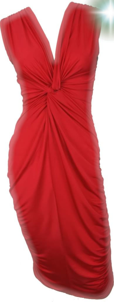 Twisted Red Gathered Dress Ebay