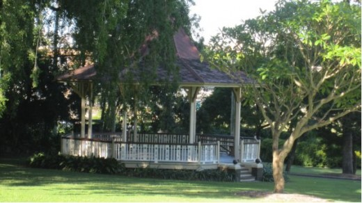 The Bandstand at Bowen Park, Brisbane Australia, as it stands today.  It was built during the later part of 1914.