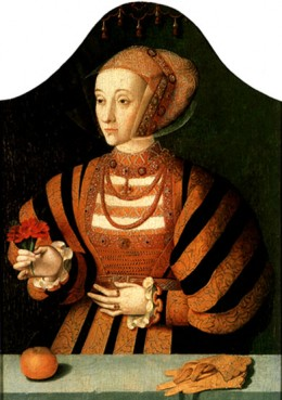 Anne of Cleeves- a painting by Bruyn