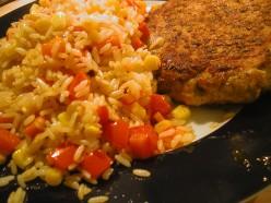 Salmon Patty with rice