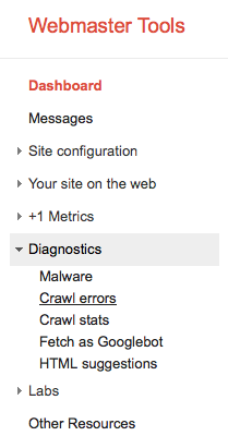 Steps 6 & 7: Select Diagnostics and Fetch as Googlebot from the Webmaster Tools dashboard.