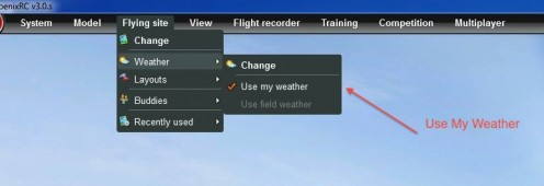 "Enable ""Use My Weather"" to put the thermals in the air."