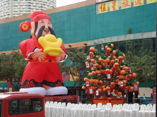 Chinese Lunar New Year Celebrations in China Town, Singapore
