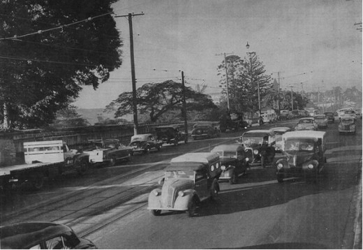 Traffic On Bowen Bridge Road 1956