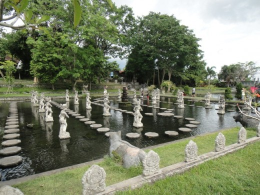 Water Palace - Tirta Ganga - Children Playground (You can walk on the steps from one end to another.)