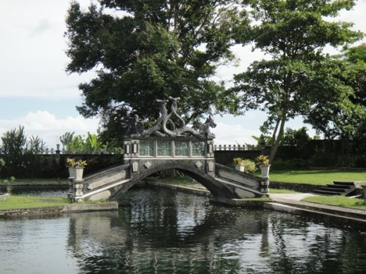 Water Palace - Tirta Ganga - bridge in the palace