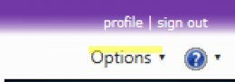 I highlighted the word Options. It is found in the top right corner.