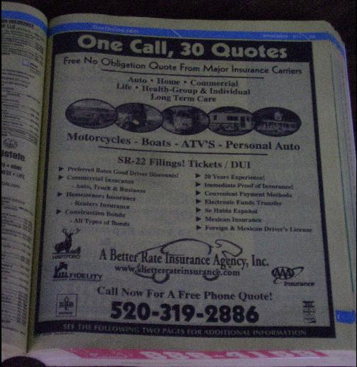 Full Page Yellow Pages ad