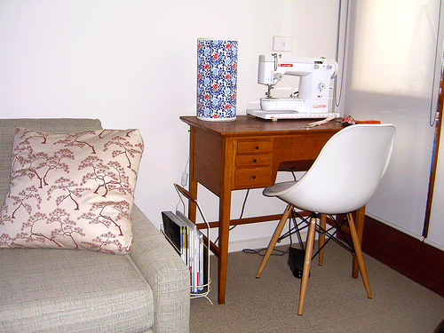 A sewing table
