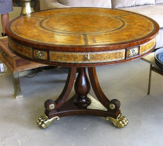 An elegant looking drum table