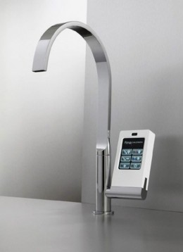 Hi Tech Kitchen Faucet with Touch Screen
