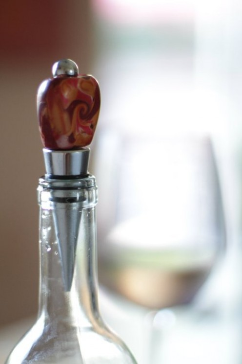 Clay polymer wine stopper PHOTOGRAPHY - ALL BY Sean Michael Beyer