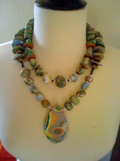 Clay Polymer Necklace