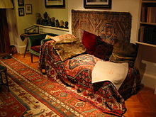 Sigmund Freud used this couch during his early psychotherapy sessions
